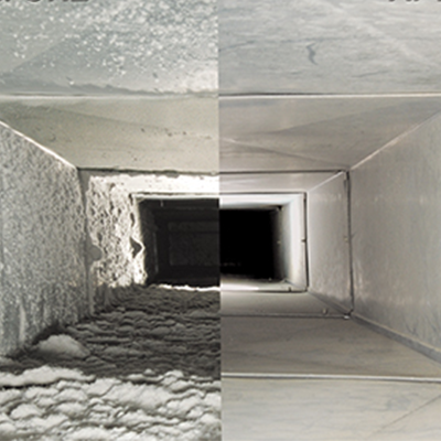 Before and After Air Duct Cleaning by Sears