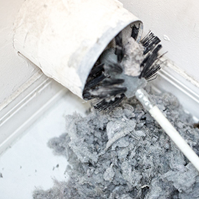 Lint backs up into the dryer vent